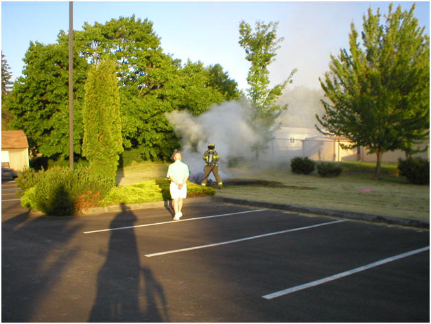 Riding Lawn Mower Fire I called Fire Department to help put out fire at a local church