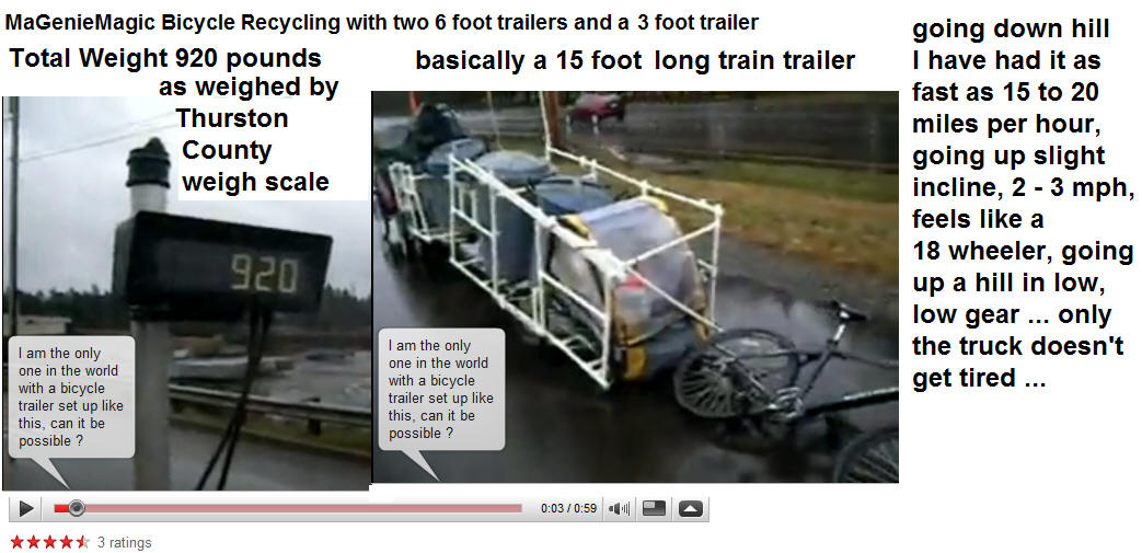 Recycling with a bicycle and trailers