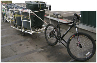Bicycle Trailer Recycling